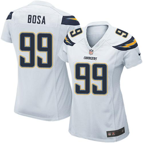 Nike Chargers #99 Joey Bosa White Women's Stitched NFL Elite Jersey