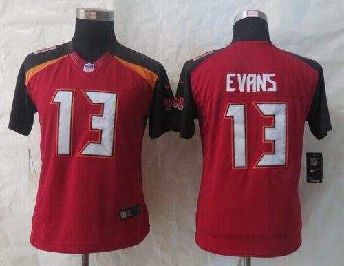 Nike Buccaneers #13 Mike Evans Red Team Color Women's Stitched NFL New Limited Jersey