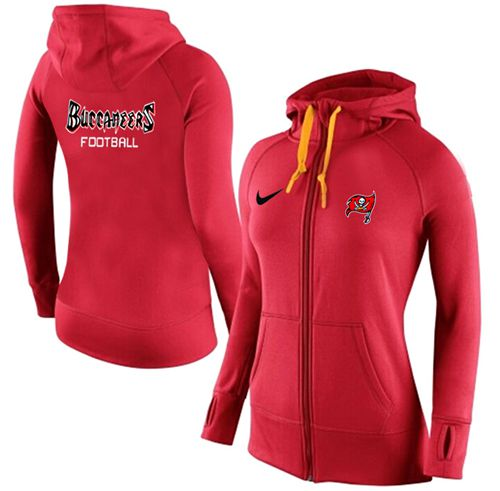 Women's Nike Tampa Bay Buccaneers Full-Zip Performance Hoodie Red