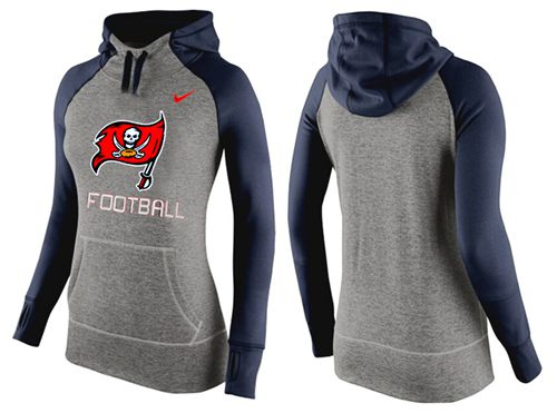 Women's Nike Tampa Bay Buccaneers Performance Hoodie Grey & Dark Blue