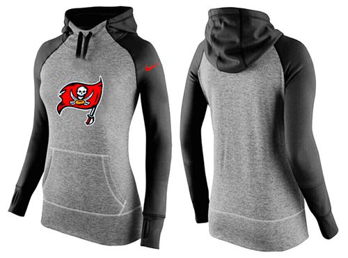 Women's Nike Tampa Bay Buccaneers Performance Hoodie Grey & Black