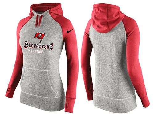 Women's Nike Tampa Bay Buccaneers Performance Hoodie Grey & Red_1