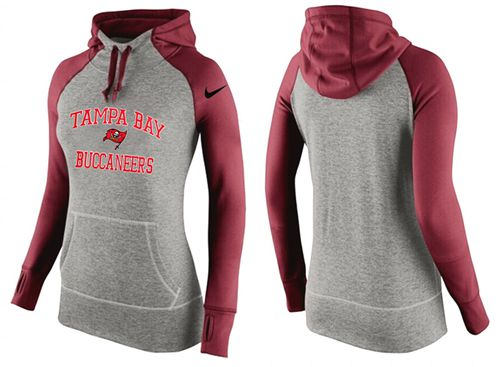 Women's Nike Tampa Bay Buccaneers Performance Hoodie Grey & Red_2