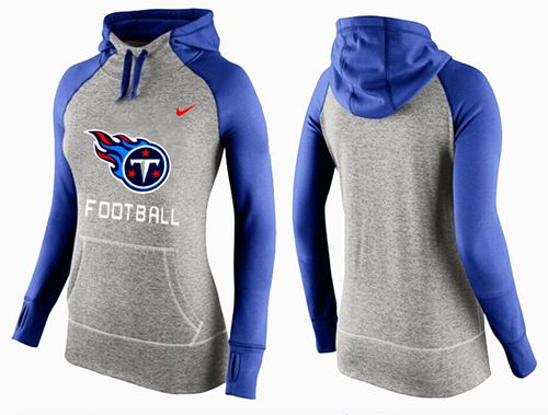Women's Nike Tennessee Titans Performance Hoodie Grey & Blue_1