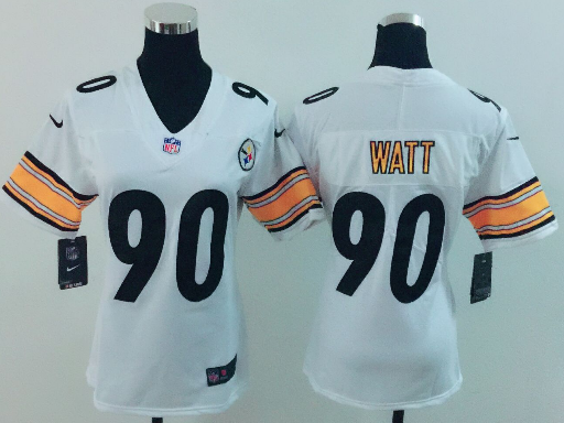 Women's Nike Pittsburgh Steelers #90 T. J. Watt White Vapor Untouchable Limited Stitched NFL Jersey