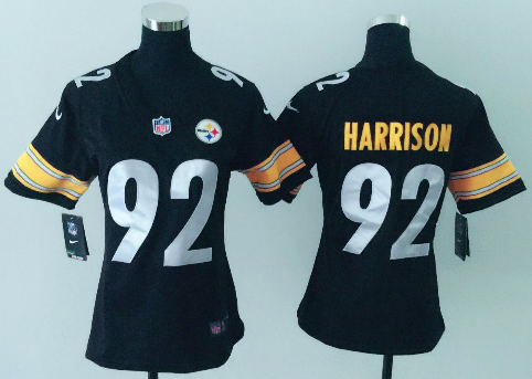 Women's Nike Pittsburgh Steelers #92 James Harrison Black Vapor Untouchable Limited Stitched NFL Jersey