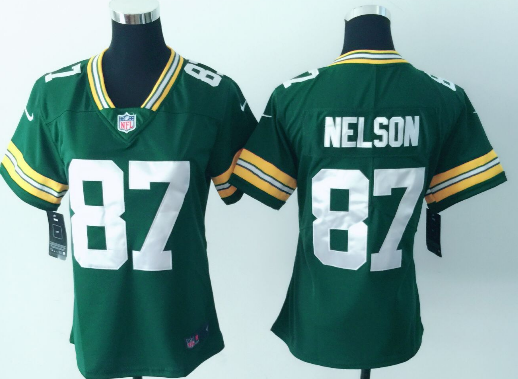 Women's Nike Green Bay Packers #87 Jordy Nelson Green Vapor Untouchable Limited Stitched NFL Jersey