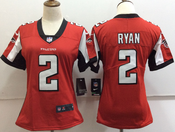 Women's Nike Atlanta Falcons #2 Matt Ryan Red Untouchable Limited Stitched NFL Jersey
