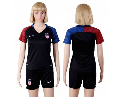 Women's USA Blank Away(Three Star) Soccer Country Jersey
