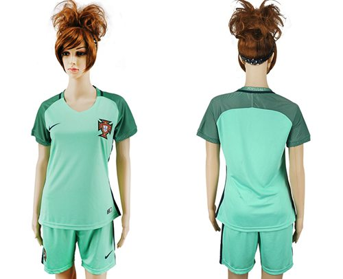 Women's Portugal Blank Away Soccer Country Jersey
