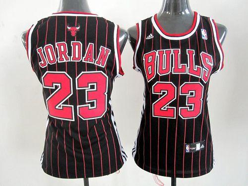 Bulls #23 Michael Jordan Black Women's Alternate Stitched NBA Jersey