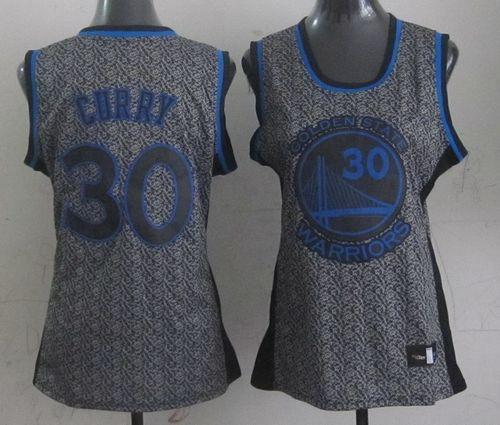 Warriors #30 Stephen Curry Grey Women's Static Fashion Stitched NBA Jersey