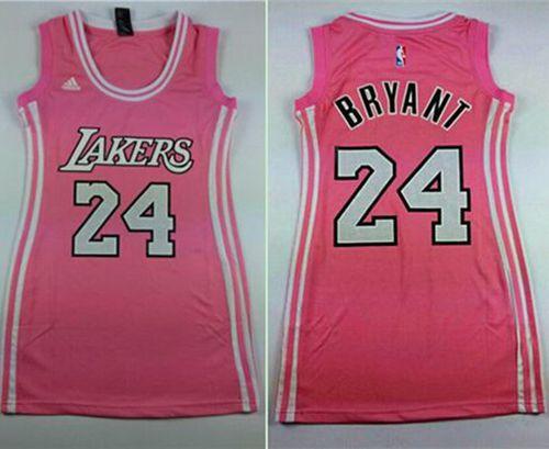 Lakers #24 Kobe Bryant Pink Women's Dress Stitched NBA Jersey ...