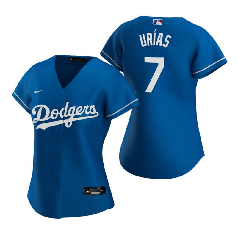 Women's Los Angeles Dodgers #7 Julio Urias Blue Stitched MLB Jersey(Run Small)