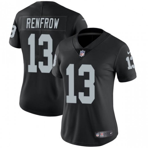Women's Oakland Raiders #13 Hunter Renfrow Black Vapor Untouchable Limited Stitched NFL Jersey