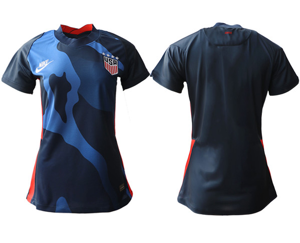 Women's USA Blank Away Soccer Country Jersey