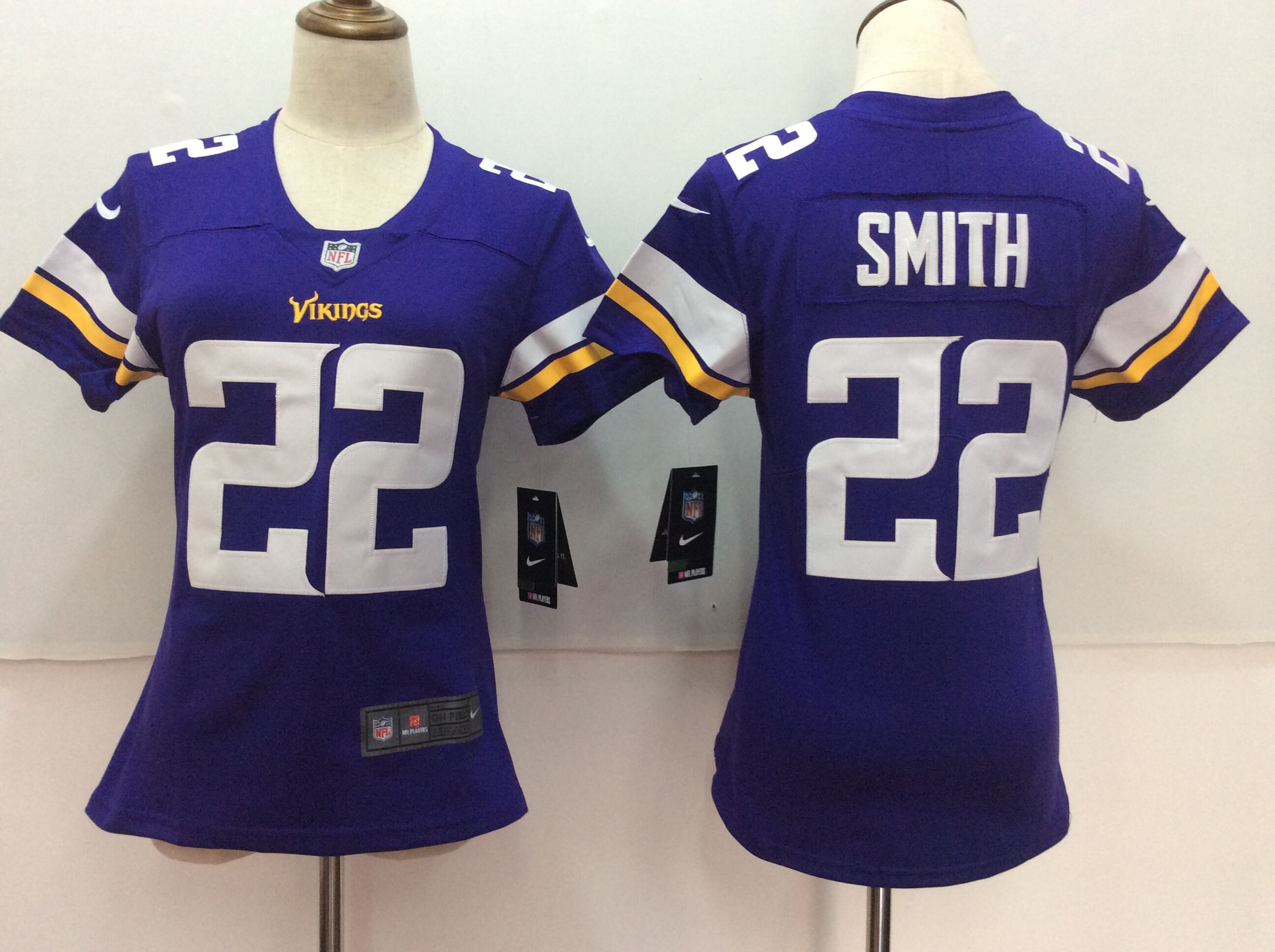 Women's Nike Minnesota Vikings #22 Harrison Smith Purple Untouchable Limited Stitched NFL Jersey