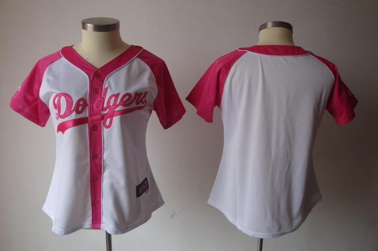 Women's Los Angeles Dodgers Blank Pink Splash Fashion Stitched MLB Jersey