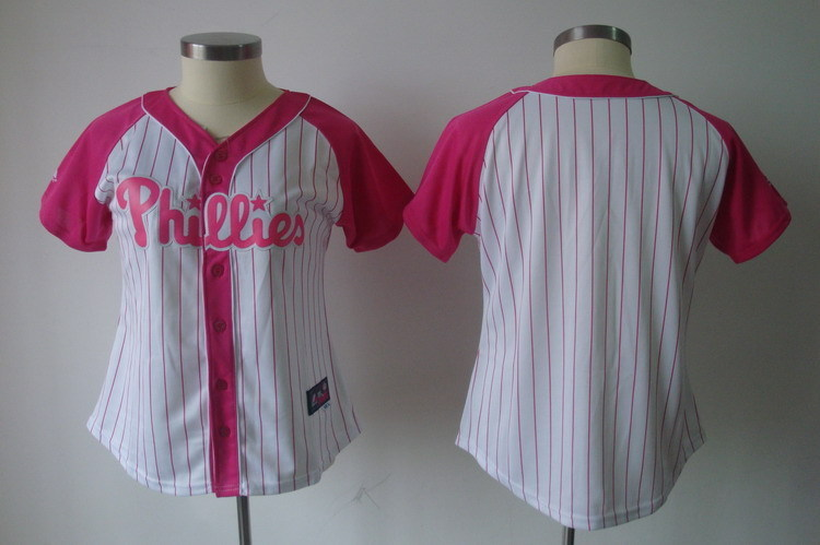 Women's Philadelphia Phillies Blank Pink Splash Fashion Stitched MLB Jersey