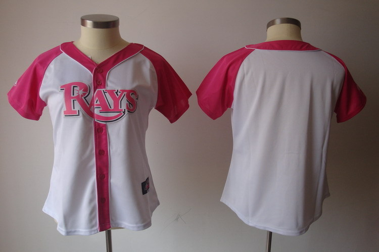 Women's Tampa Bay Rays Blank Pink Splash Fashion Stitched MLB Jersey