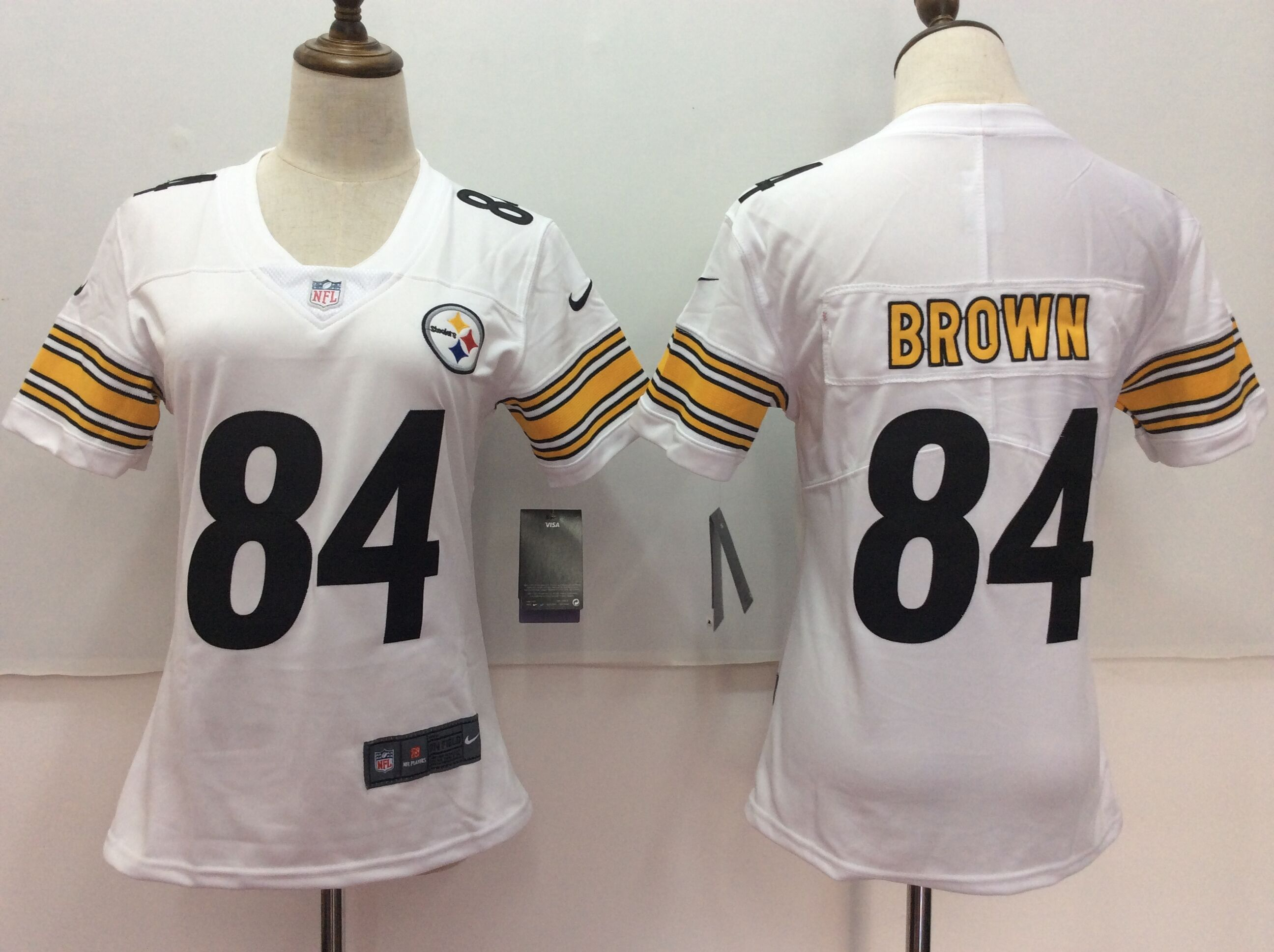Women's Nike Pittsburgh Steelers #84 Antonio Brown White Untouchable Limited Stitched NFL Jersey