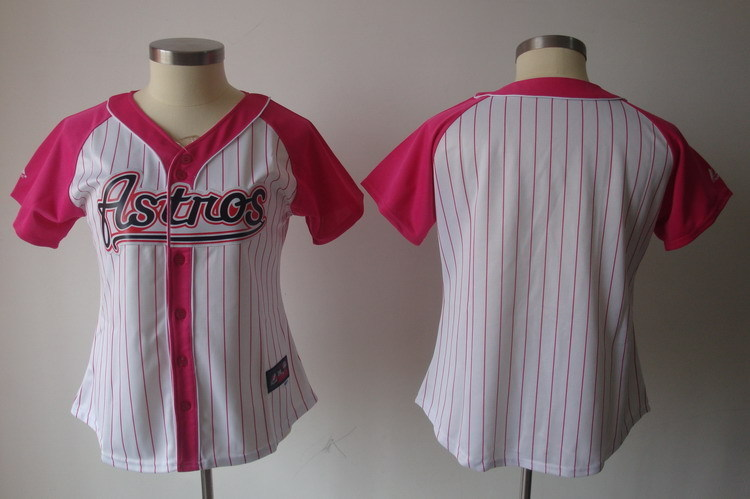 Women's Houston Astros Blank Pink Splash Fashion Stitched MLB Jersey