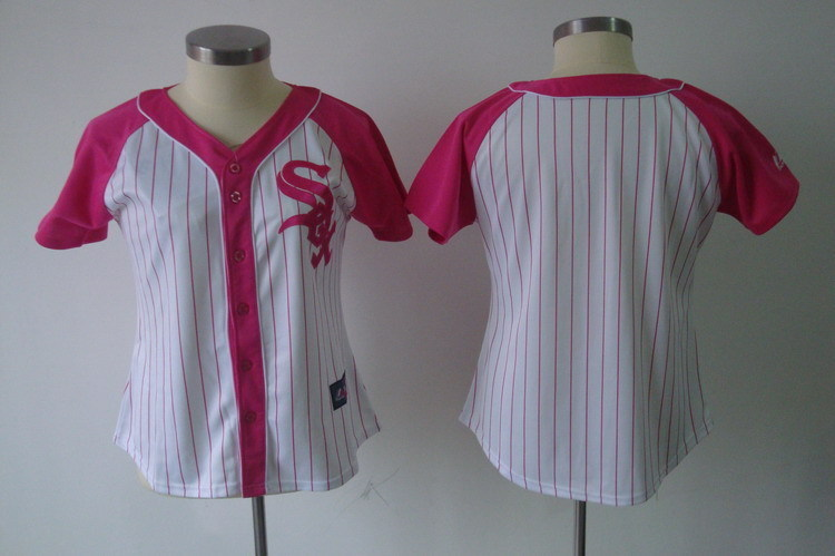 Women's Chicago White Sox Blank Pink Splash Fashion Stitched MLB Jersey