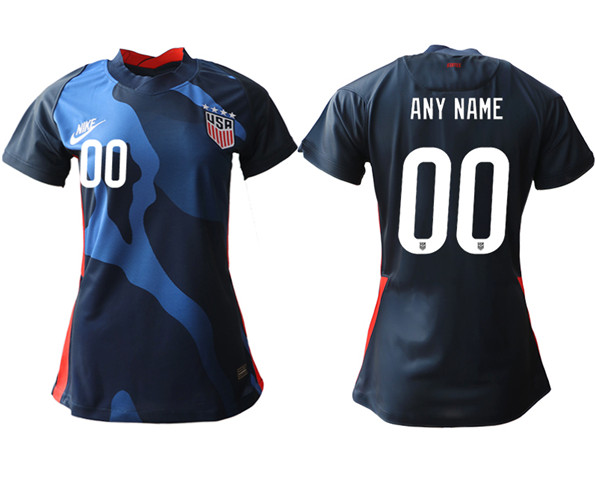 Women's USA Custom Away Soccer Country Jersey