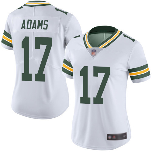 Nike Packers #17 Davante Adams White Color Women's Stitched NFL Jersey
