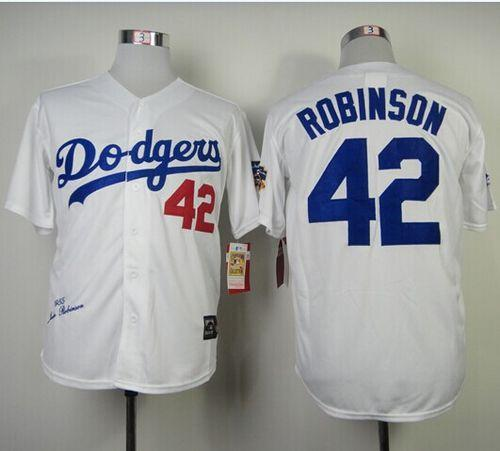 Women's Los Angeles Dodgers #42 Jackie Robinson White Throwback Stitched MLB Jersey(Run Small)