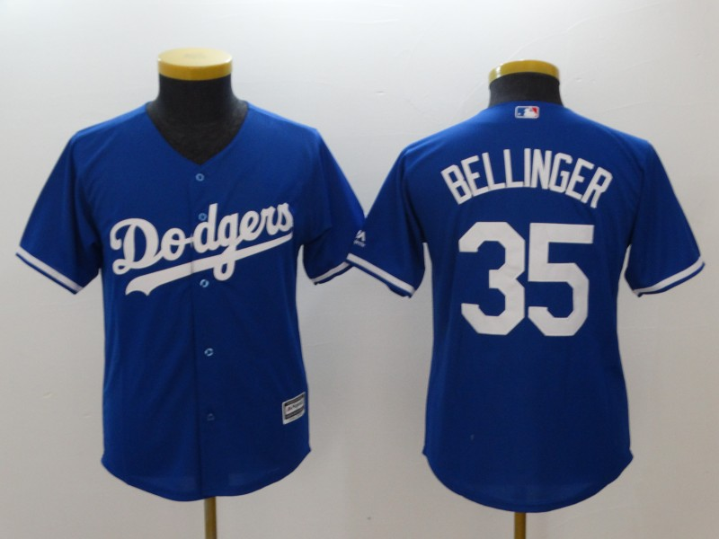 Youth Los Angeles Dodgers #35 Cody Bellinger Blue Cool Base Stitched MLB Jersey
