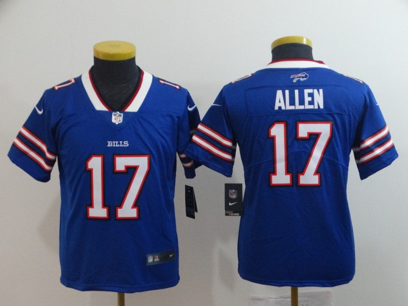 Youth Buffalo Bills #17 Josh Allen Royal Vapor Untouchable Limited Stitched NFL Jersey