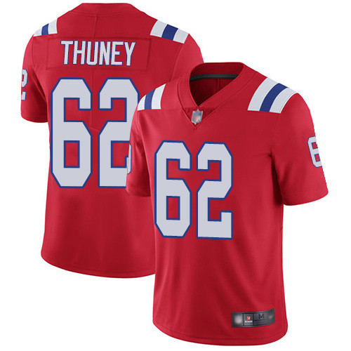 Youth New England Patriots #62 Joe Thuney Red Vapor Untouchable Stitched NFL Jersey