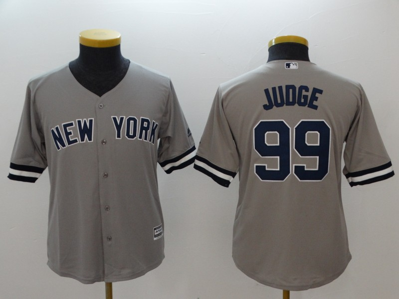 Youth New York Yankees #99 Aaron Judge Gray Cool Base Stitched MLB Jersey