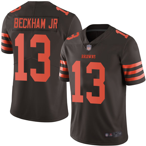 Youth Cleveland Browns #13 Odell Beckham Jr. Brown Color Rush Limited Stitched NFL Jersey