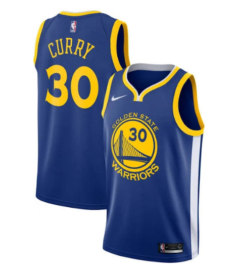 Youth Warriors #30 Stephen Curry Blue Stitched NBA Jersey