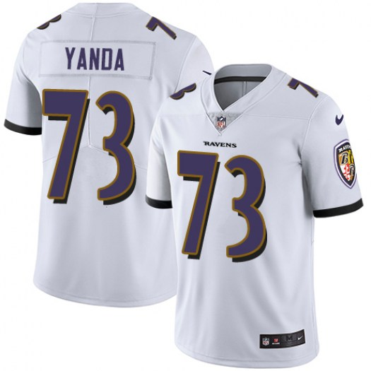 Youth Baltimore Ravens #73 Marshal Yanda White Vapor Untouchable NFL Jersey