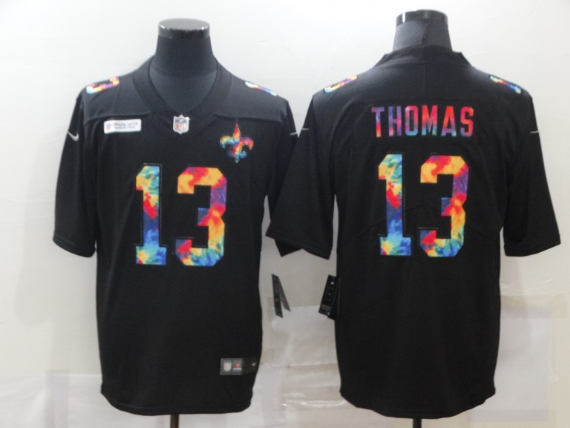 Youth New Orleans Saints #13 Michael Thomas 2020 Black Crucial Catch Limited Stitched NFL Jersey