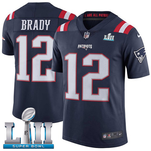 Youth New England Patriots #12 Tom Brady Navy Vapor Untouchable Limited Stitched NFL Jersey