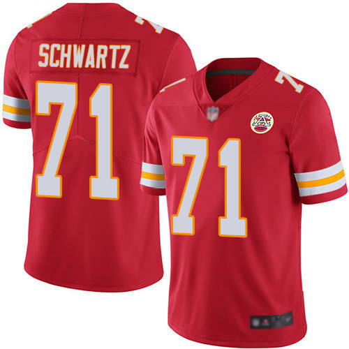 Youth Kansas City Chiefs #71 Mitchell Schwart Red Vapor Untouchable Limited Stitched NFL Jersey