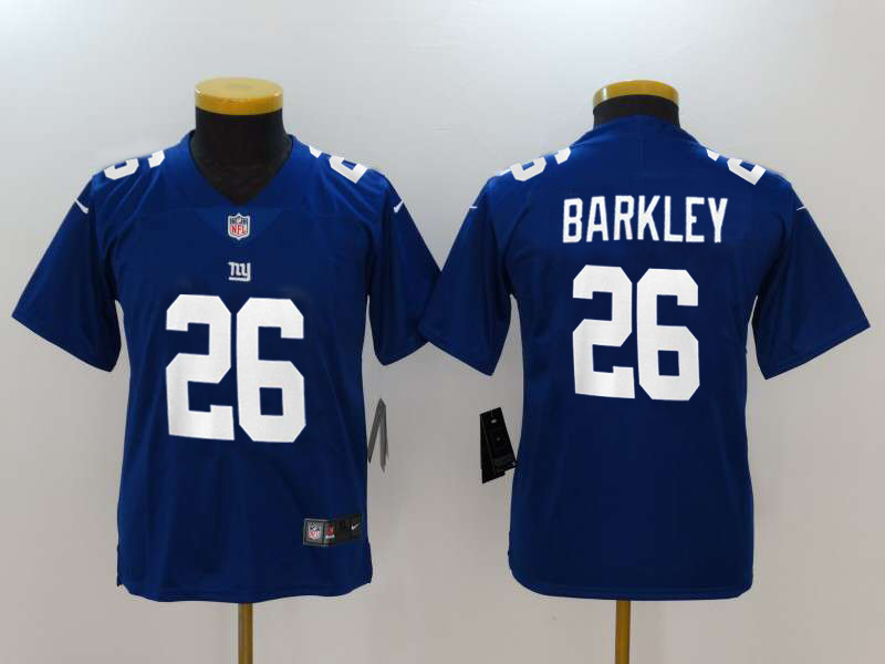 Youth New York Giants #26 Saquon Barkley Royal 2018 NFL Draft Vapor Untouchable Limited Stitched Jersey
