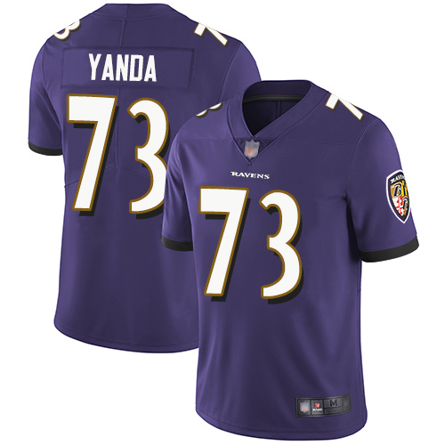Youth Baltimore Ravens #73 Marshal Yanda Purple Vapor Untouchable NFL Jersey