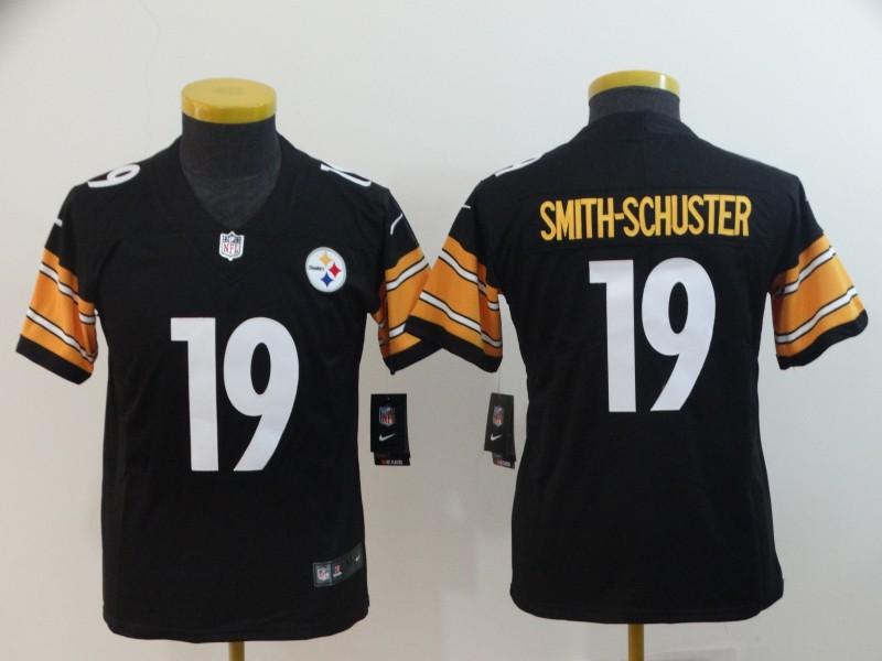Youth Pittsburgh Steelers #19 JuJu Smith-Schuster Black Vapor Untouchable Limited Stitched NFL Jersey
