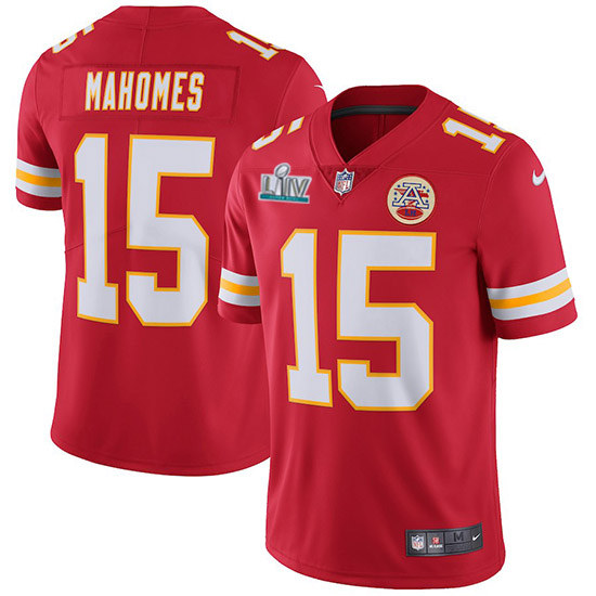 Youth Kansas City Chiefs #15 Patrick Mahomes Super Bowl LIV Red Vapor Untouchable Limited Stitched NFL Jersey