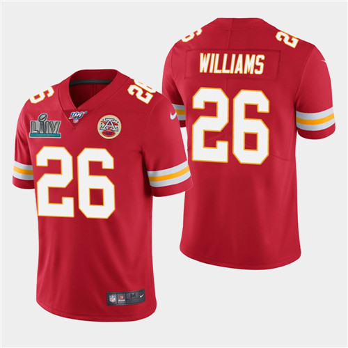 Youth Kansas City Chiefs #26 Damien Williams Red Super Bowl LIV Vapor Untouchable Limited Stitched NFL Jersey
