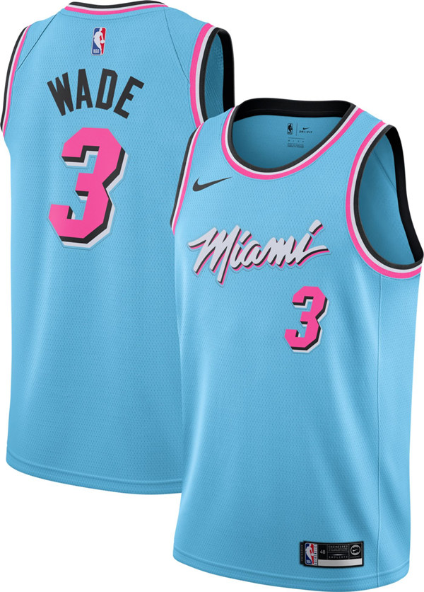 Youth Miami Heat #3 Dwyane Wade Blue Edition Stitched NBA Jersey