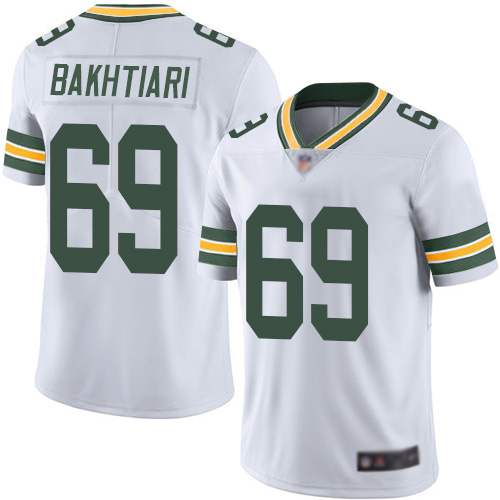 Youth Green Bay Packers #69 David Bakhtiari White Vapor Untouchable Stitched NFL Jersey