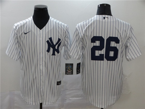 Youth New York Yankees #26 DJ LeMahieu White Cool Base Stitched MLB Jersey