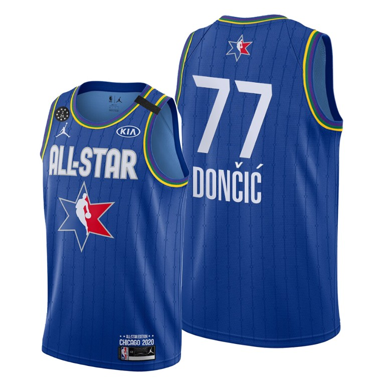 Youth Dallas Mavericks #77 Luka Doncic Blue 2020 All-Star Stitched NBA Jersey