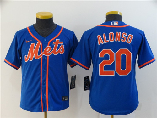 Youth New York Mets #20 Pete Alonso Blue Cool Base Stitched MLB Jersey